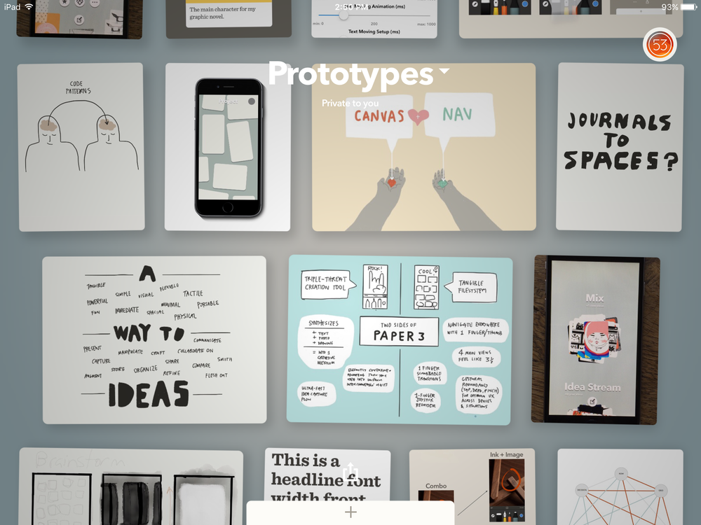prototypes paper fiftythree ipad - Prototype Ipad App