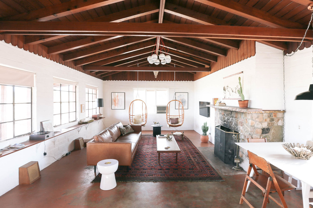 A renovated hacienda for rent in Joshua Tree National Park; photo by Sara Combs