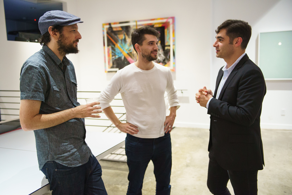 FiftyThree's Amit Pitaru and Andrew Allen with NYC Apps organizer Serko Artinian