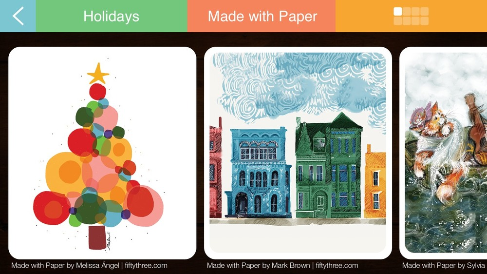 "In the Felt iPhone app, select ""Greeting Cards"" to browse cards made by Paper artists."
