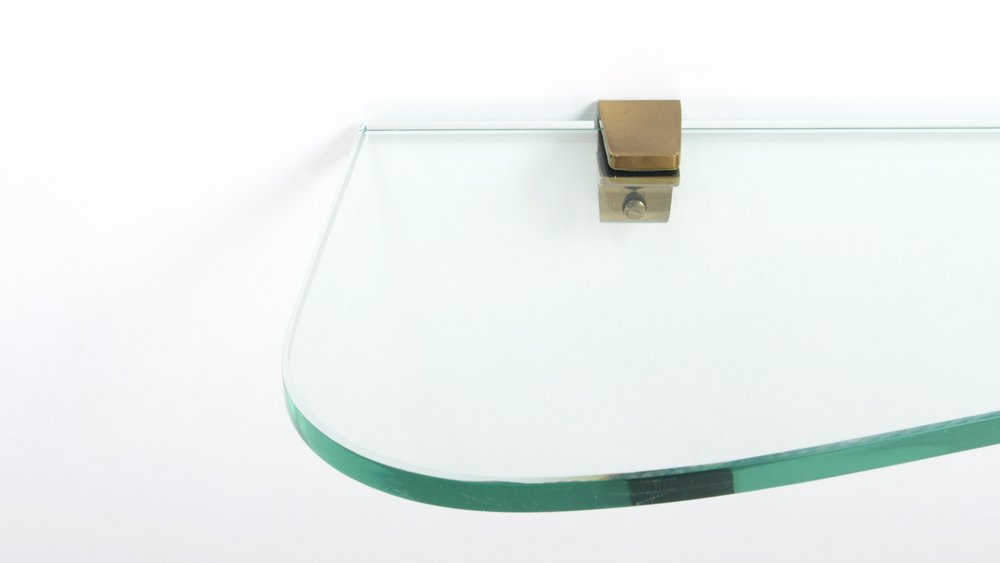 FONTANA ARTE ASYMETRIC GLASS WALL CONSOLE 3
