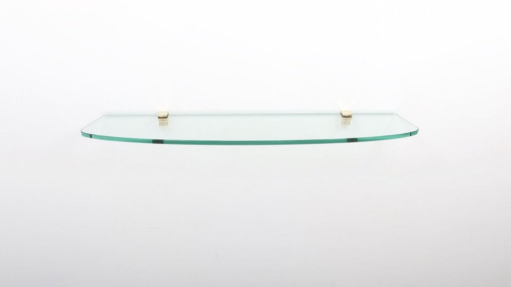 FONTANA ARTE - WALL MOUNTED GLASS CONSOLE - CIRCA 1960