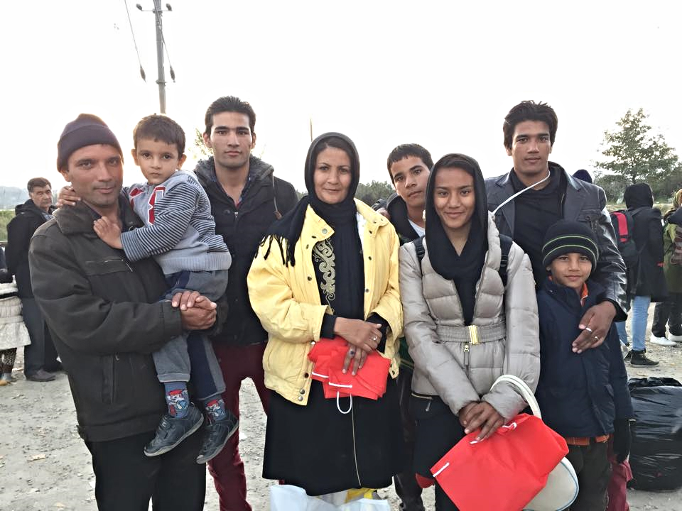 An Afghan mom, dad and their six children who left everything behind in search of peace