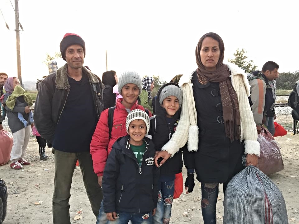 A family of five fleeing Afghanistan for Germany