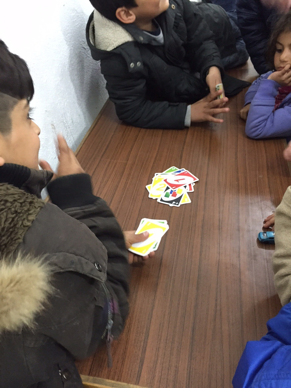 Uno with some children