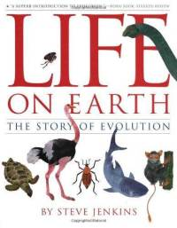 life-on-earth-story-evolution-steve-jenkins-hardcover-cover-art