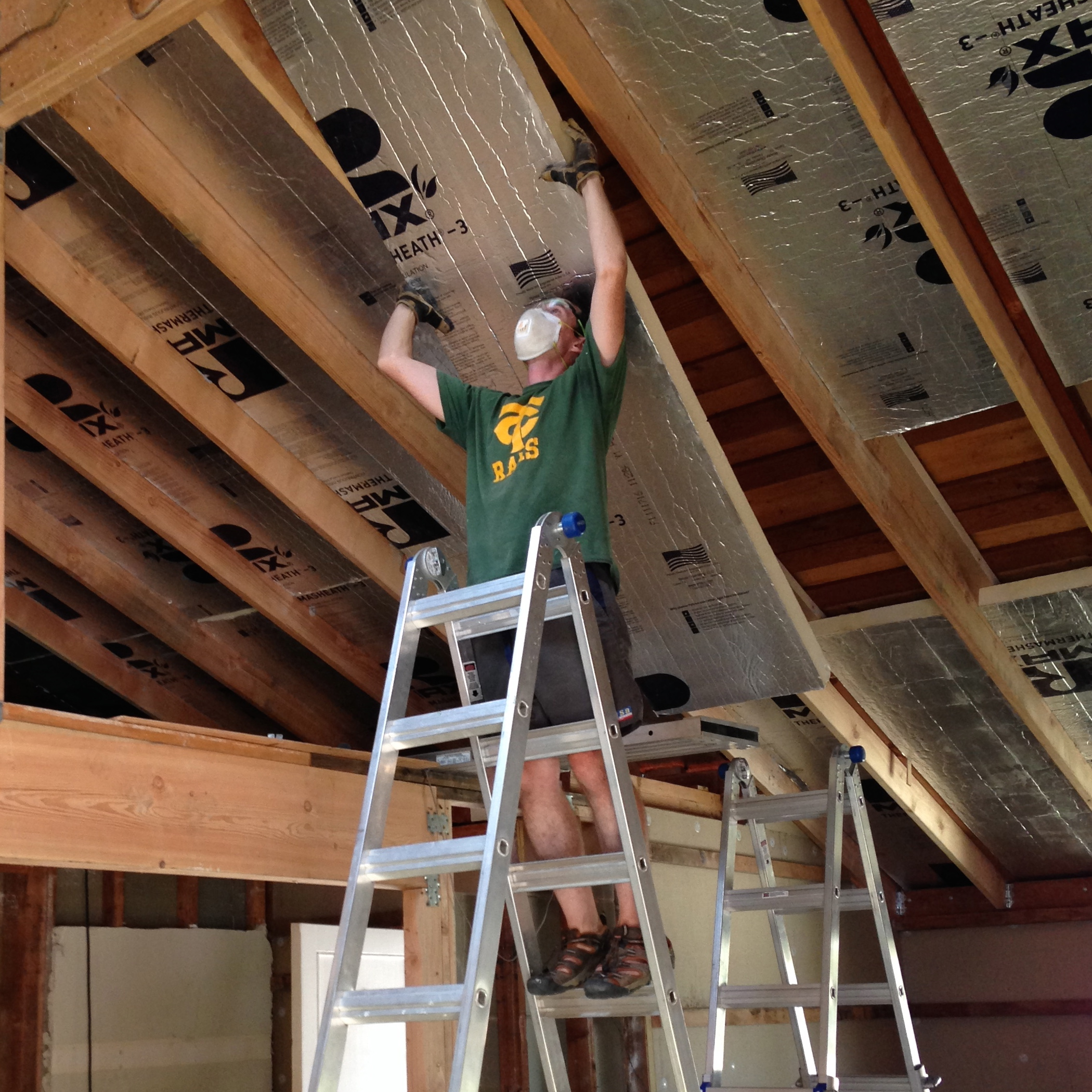 How We Turned Our House Into A Giant Foam Box, Part II U2014 Ceiling Insulation  U2014 Frugal Happy