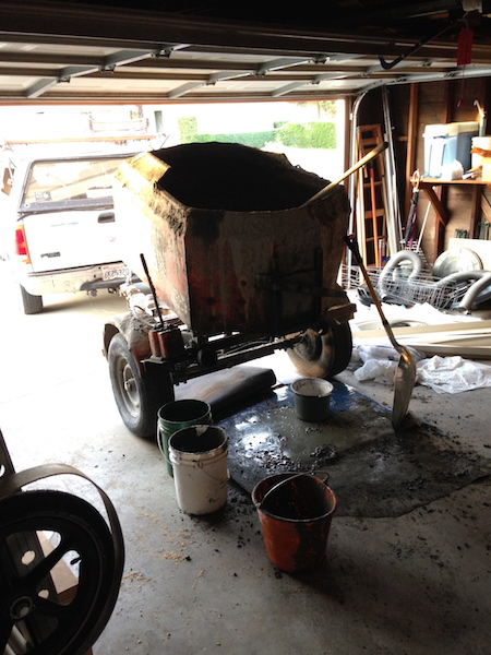 Few things invoke a sense of urgency quite like a trailer full of wet concrete sitting in your garage.