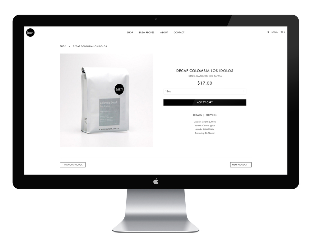 The Product Page: Keeping it simple by putting the most important information near the top.