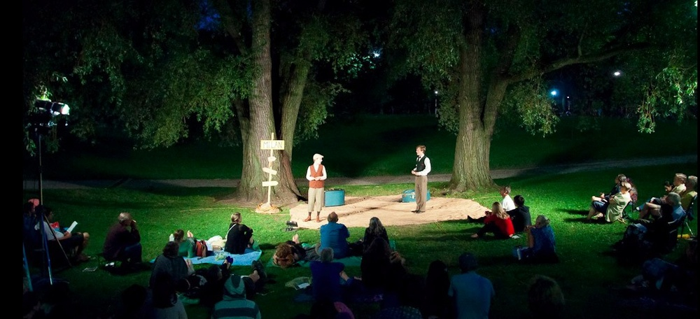 Shakespeare in the Ruff performs inin Withrow Park.