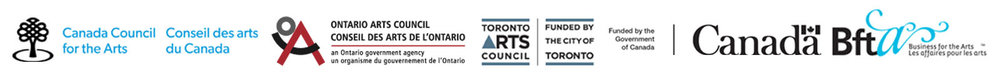 Generator is supported by  Canada Council for the Arts ,  Ontario Arts Council,   Toronto Arts Council ,  Government of Canada  and  Business for the Arts .