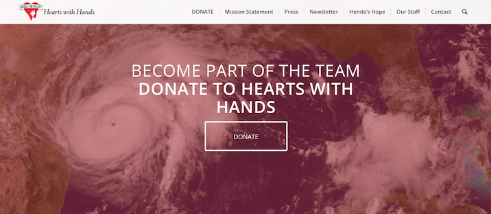 Click the image above to learn more about Hearts with Hands and how you can donate help those in need from Hurricane Harvey.