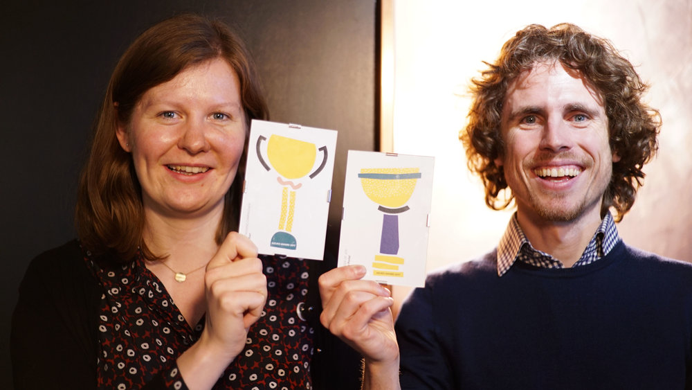 Two of our AzuKo award winners. Elly Earl, 'Outstanding Campaigner' and Si-Joe Portal, 'Bringer of Joy'.