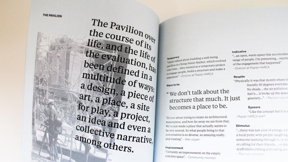 Poplar Pavilion evaluation
