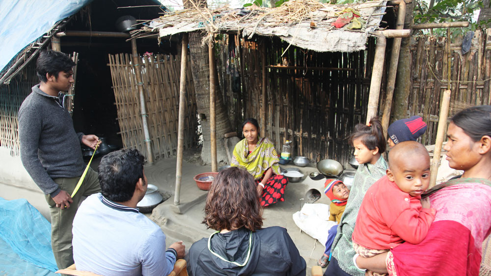 Interview in a Bengali homestead