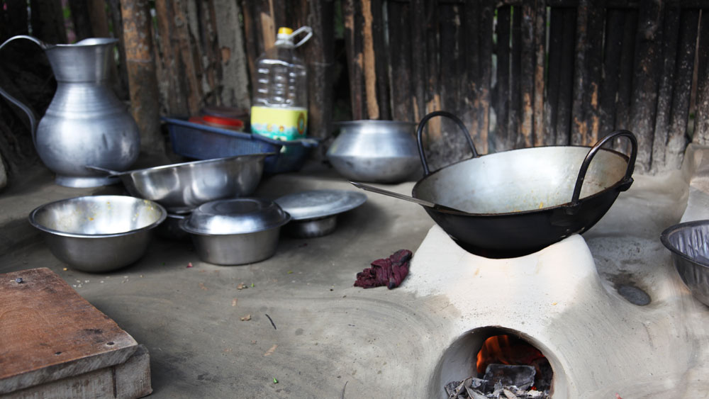 Traditional earthen stove
