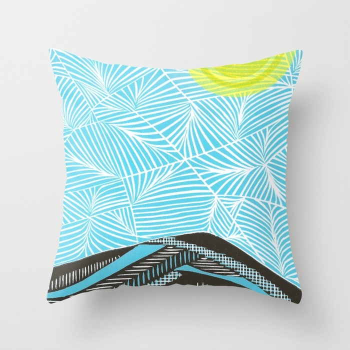 Mt. Tamaplais Throw Pillow from Society6