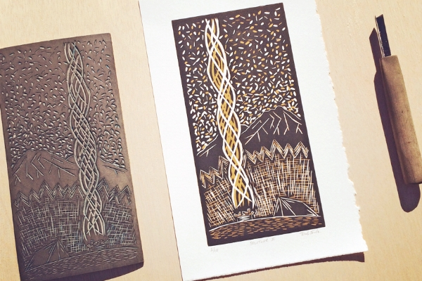 Reduction Linocut Prints