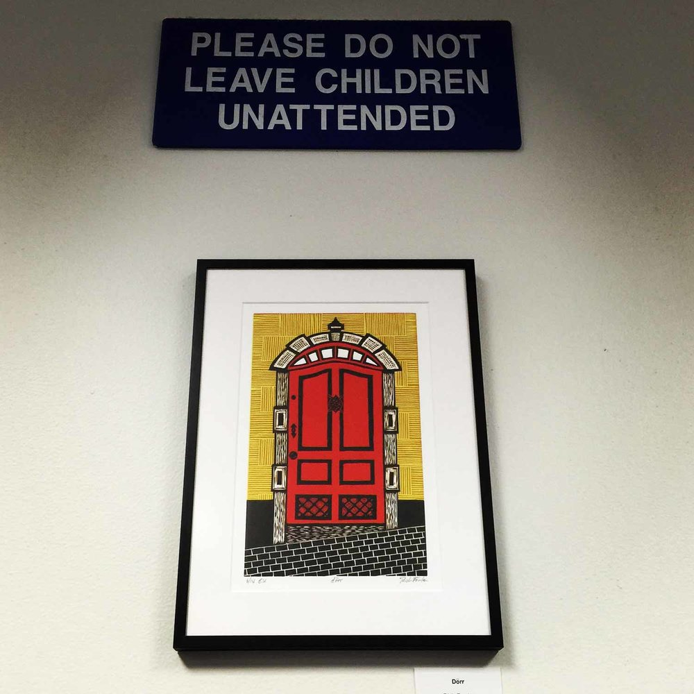 dörr   Linocut Print