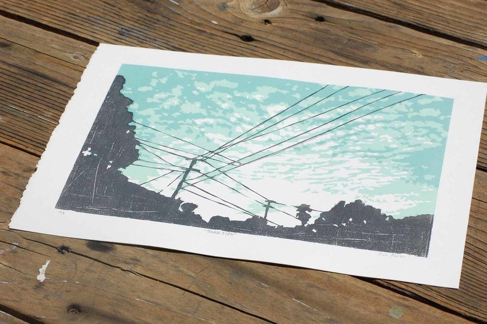 Junction | Linocut Print