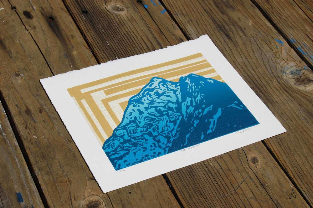 Summit | Woodcut and Linocut Print