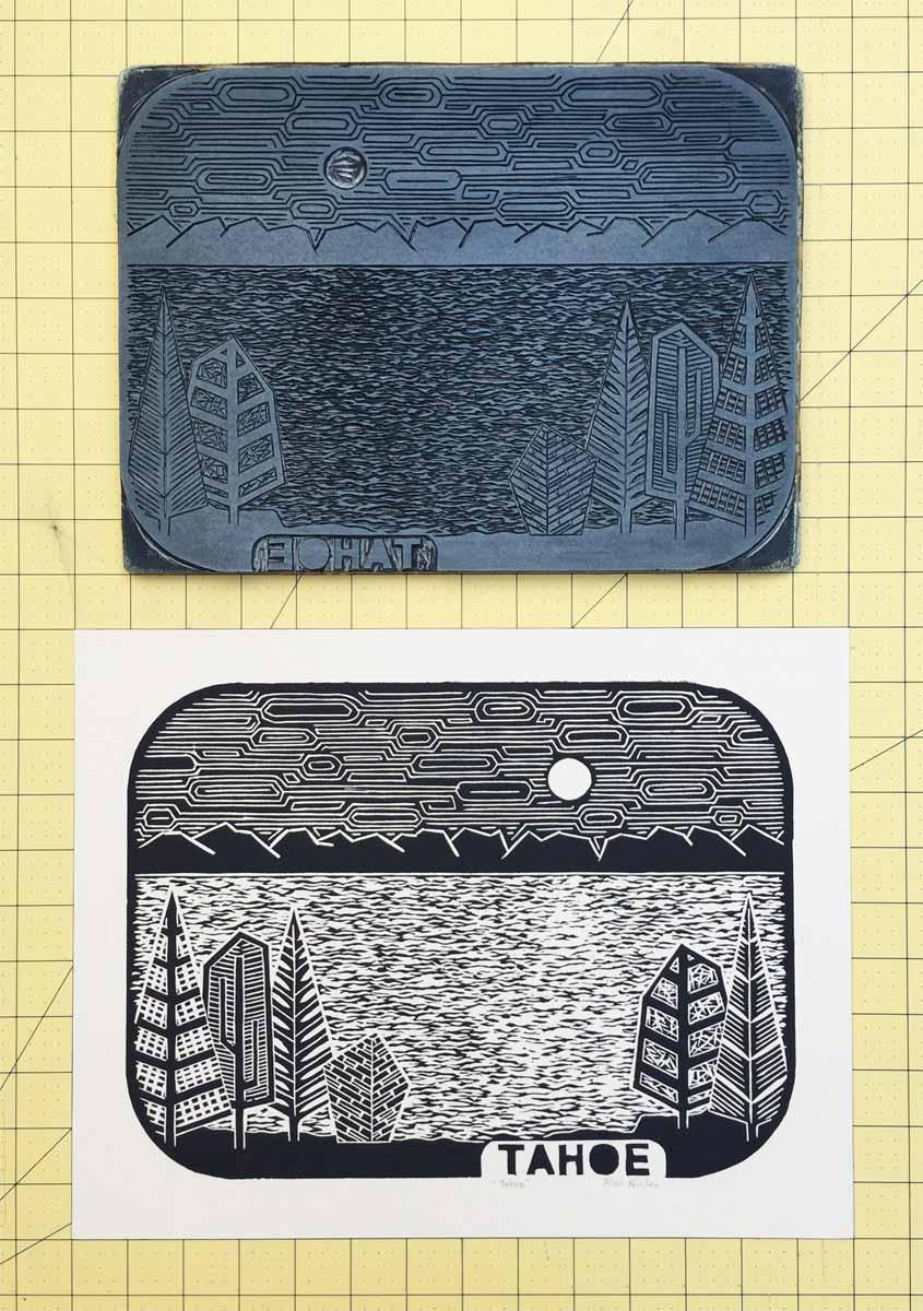 Tahoe | Linocut Print