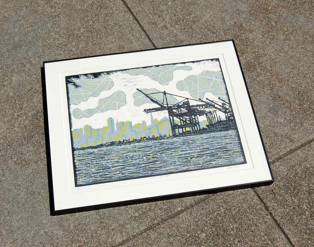 Across the Bay | Linocut Print