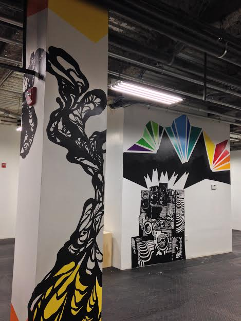 Multiple Interior Murals For Bowery Crossfit In NYC