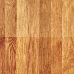 white oak wood flooring top half water urethane finish bottom half oil urethane