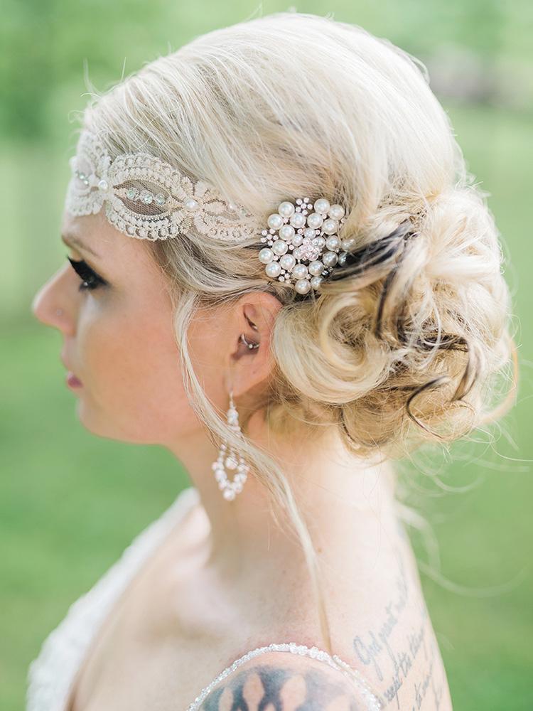 pearl hair clip lace headpiece tattood bride  waterloo cedar falls ia wedding photographer.jpg