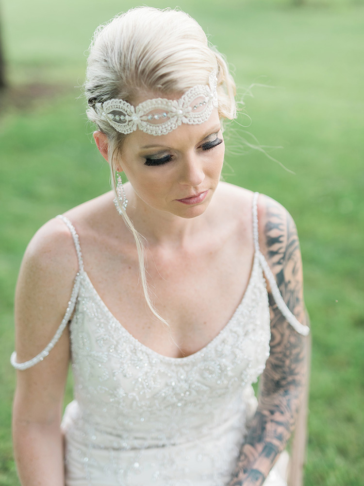tattood bride vintage lace headpiece  waterloo cedar falls ia wedding photographer.jpg