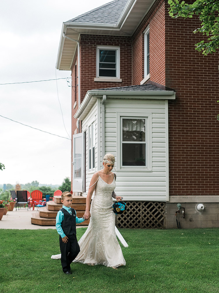walk me down the aisle beaded gown backyard wedding waterloo ia wedding photography.jpg