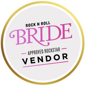 Nicole Corrine featured in Rock N Roll Bride Magazine Iowa wedding