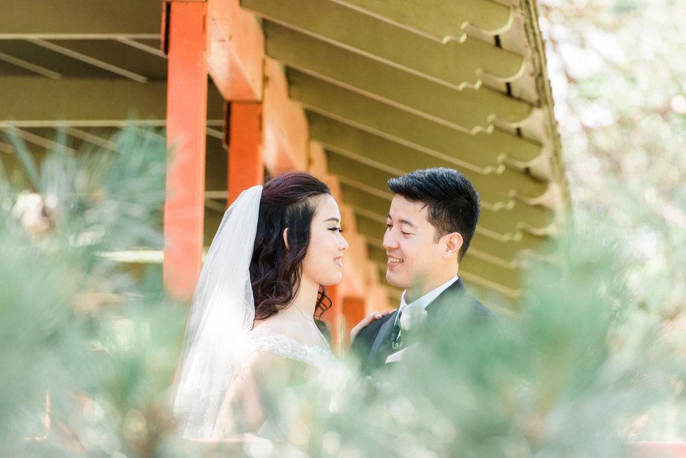 Burmese Wedding couple at Washington Park in Waterloo, IA