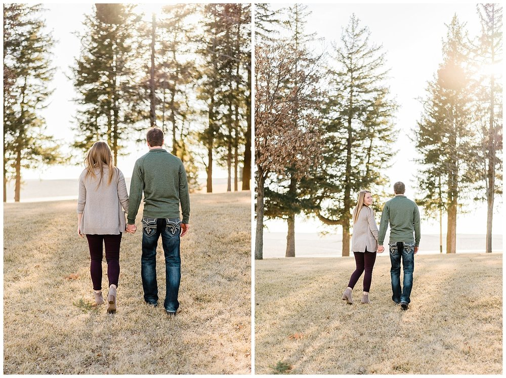 engagement session walking iowa.jpg
