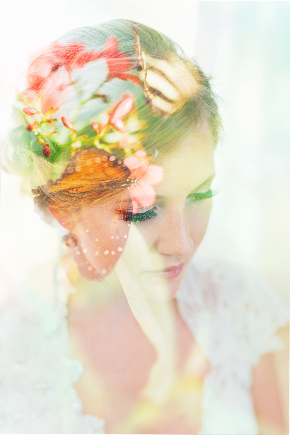 nicole corrine double exposure butterfly and bride.jpg