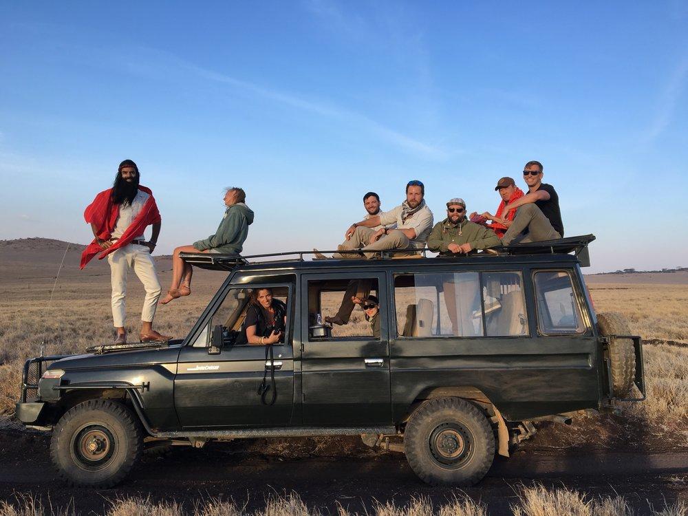Cruising on the safari in Lewa.