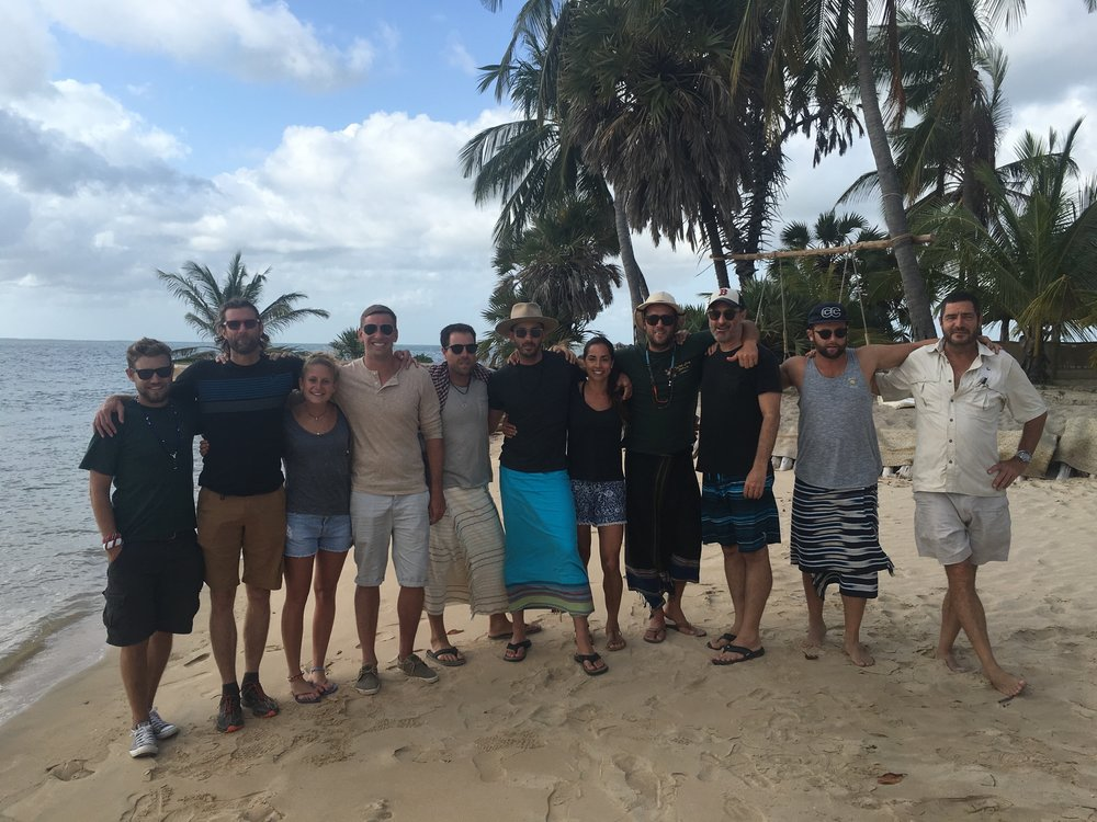 The crew relaxing at the beach in Lamu Bay.