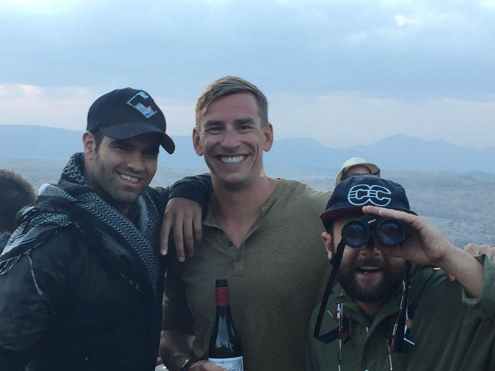 One of the first Sundowner's in Sarara with Jon Stein, Drew Himel, Tyler Wakstein.