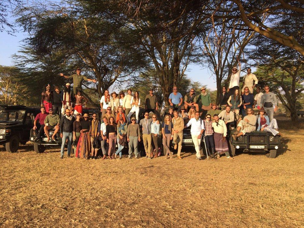 Inspiring group of humans at Lewa.