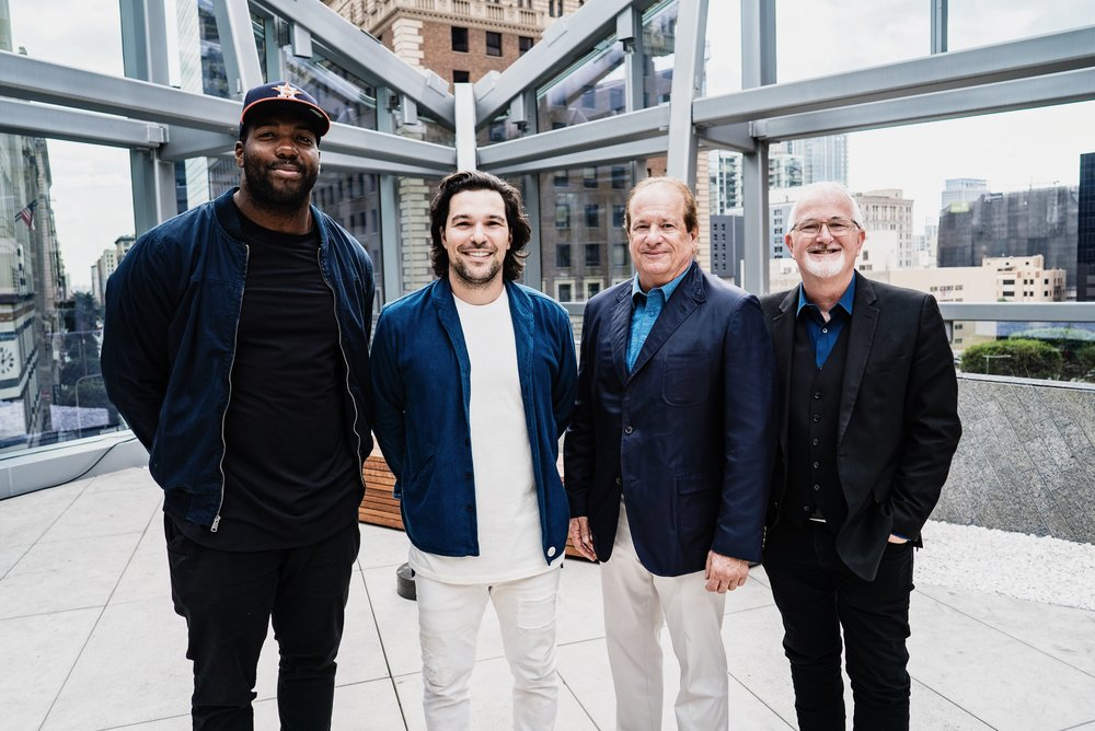 Russel Okung (Los Angeles Chargers Offensive Tackle), Jeff Rosenthal (Summit Co-Founder), Dean Spanos (Chargers Owner and Chairman of the Board Dean Spanos), Robert Egger (Founder L.A. Kitchen)