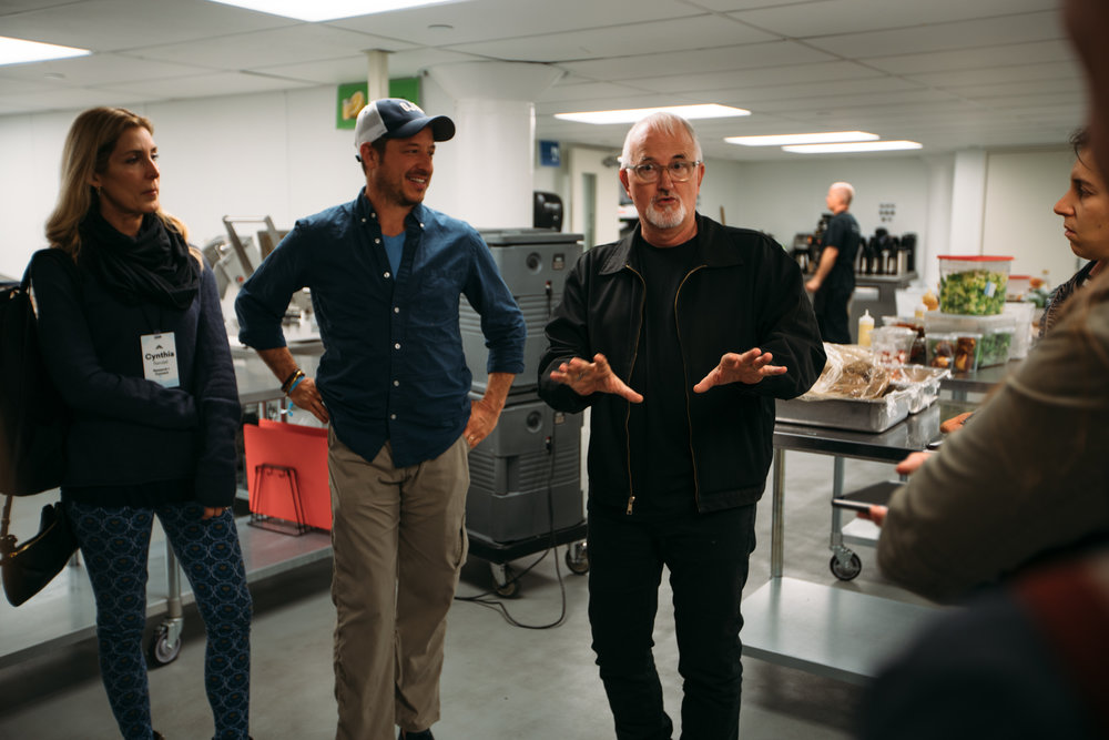 L.A. Kitchen Founder, Robert Egger, takes Summit attendees on a tour of the facility. Photo courtesey: Wayne Price
