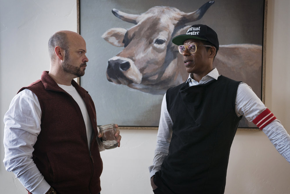 Paul Kampf (Creative Director of Equitas Entertainment) and Orlando Jones (Entertainer/Activist)