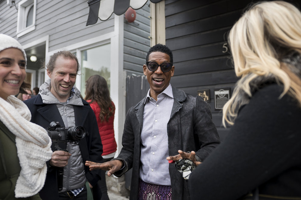 Megan Messmer (Producer), Harold Moss (Hot Chocolate), Orlando Jones and Holly Levow (Eqiutas Entertianment).