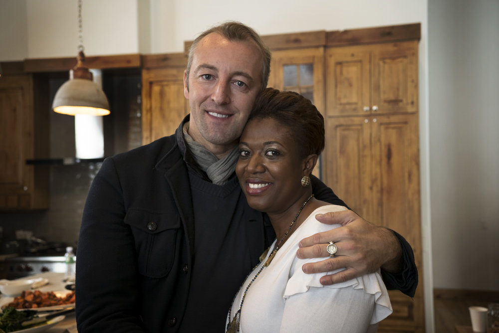 H.H. Prince Mario-Max Schaumburg-Lippe of Germany and Samantha Abrams, Executive Director of March on Washington Film Festival.