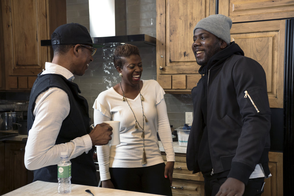 Orlando Jones, Samantha Abrams and Kweku Mandela.