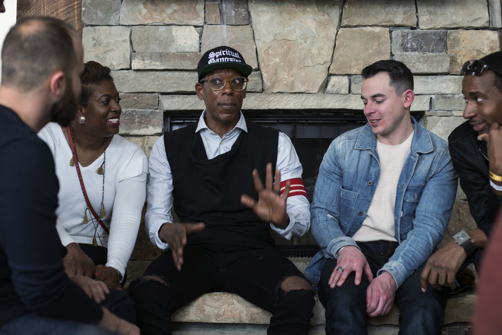 Tyler Wakstein of OpenNest, Samantha Abrams, Orlando Jones, Joseph Audette and James Norman with Pilot.ly.