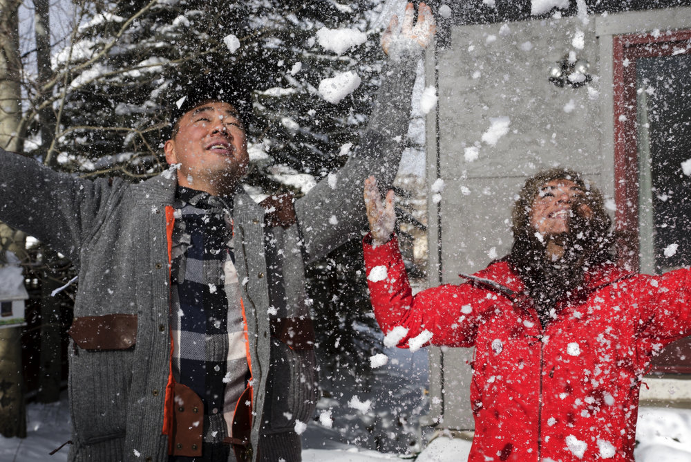Chef Haru Kishi and Hallie Applebaum with the Future of Women.
