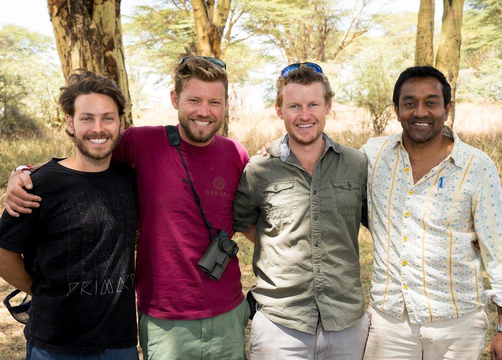 Elliott Bisnow (Co-Founder of Summit Series), Joffy Bastard (Co-Founder of Sarara),Jeremy Bastard (Co-Founder of Sarara), Dr. M. Sanjayan (CEO of Conservation International).