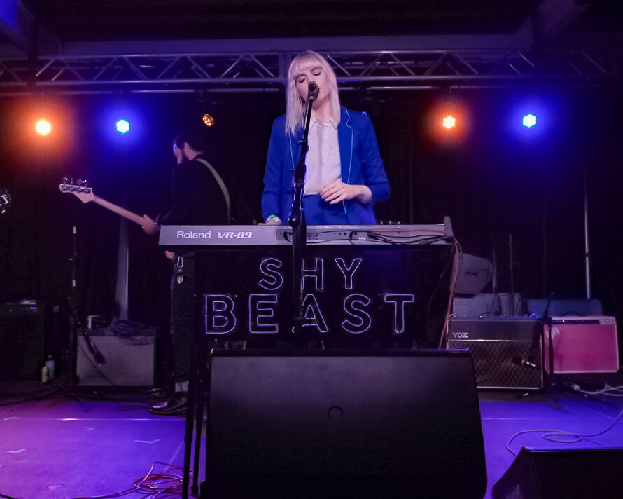 MariClaire, lead singer for Shy Beast, put on an incredible show at the Lyft House. Photo courtesy: Kyle Gonzales